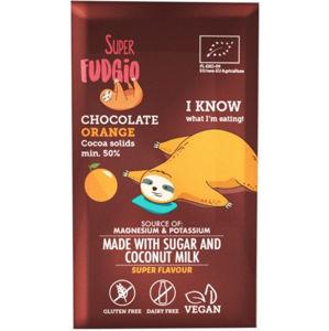 Super Fudgio Čokoláda s kokosovým mlékem a pomerančem BIO 80 g