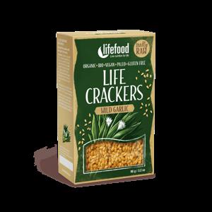 Lifefood Life Crackers S medvědím česnekem BIO RAW 90 g
