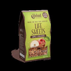 Lifefood Life Sweets Jablečné lněnky se skořicí BIO RAW 80 g