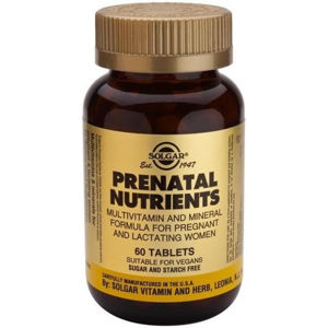 Solgar Prenatal - Multivitamín pro těhotné a kojící ženy 60 veganských tablet