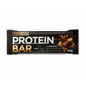 Descanti protein bar (karamel, arašídové máslo ) 50 g - expirace
