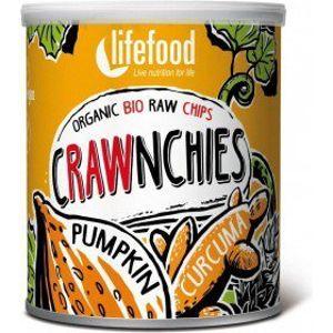 Lifefood Crawnchies dýňové s kurkumou RAW a BIO 30 g