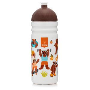 GRIZLY Zdravá láhev 0,7 l - bílá