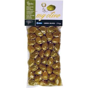 my olive Zelené olivy plněné česnekem 250 g