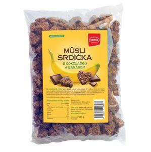 Semix Srdíčka s čokoládou a banány 500 g