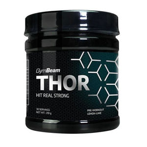 GymBeam Thor Fuel + Vitargo strawberry kiwi 210 g